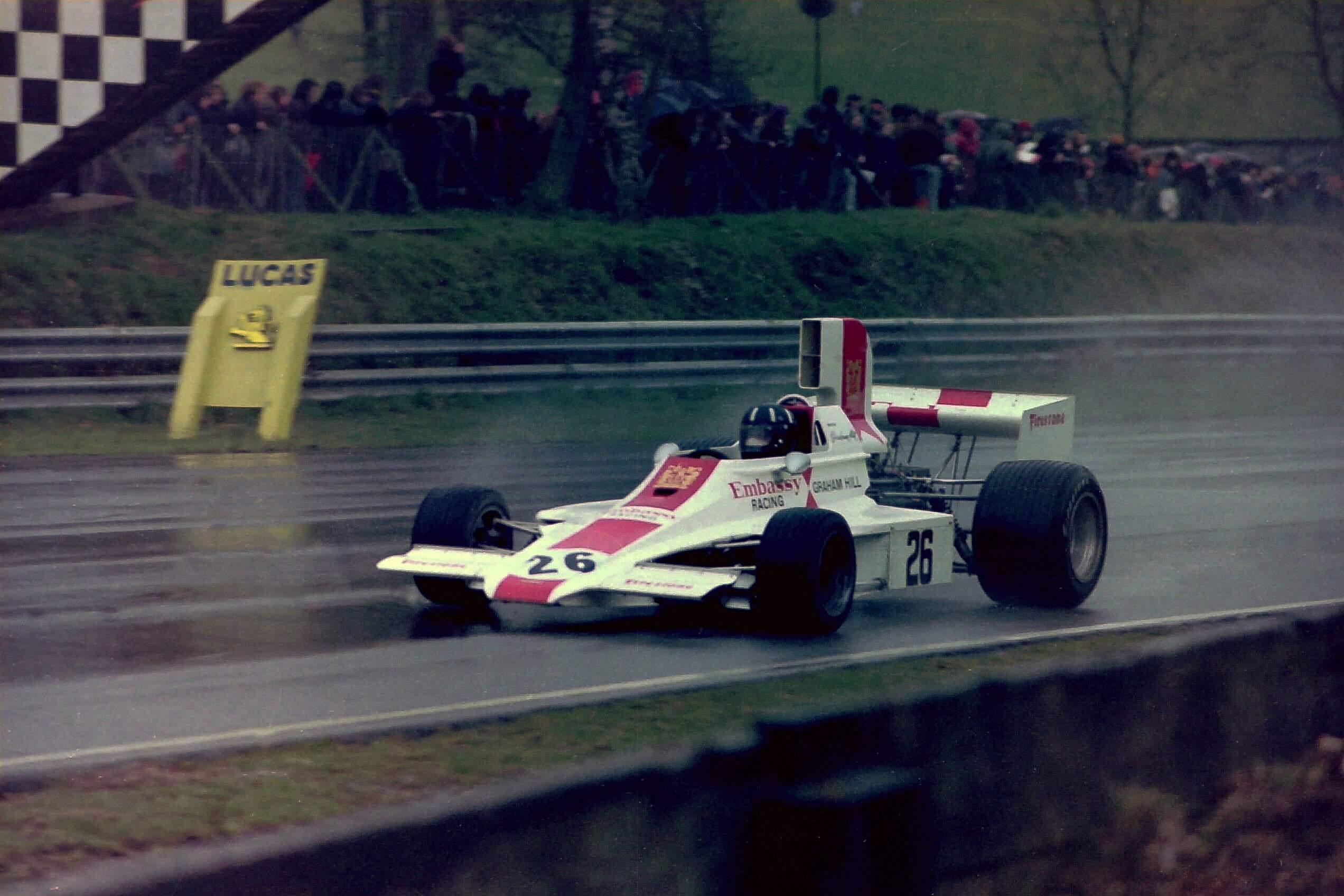 Graham Hill Embassy Hill Lola T130