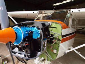 Cessna 172 Lycoming O 320 E2D Engine 007