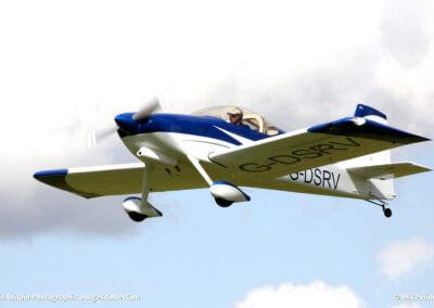 vans rv7 aircraft in flight